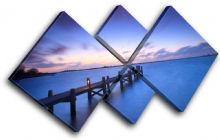 Lake Jetty Pier Sunset Seascape - 13-1051(00B)-MP19-LO